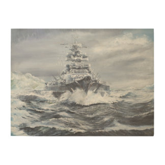 Bismarck de la costa 1900hrs 23rdMay de Cuadros De Madera