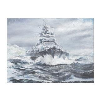 Bismarck de la costa 1900hrs 23rdMay de Impresión En Lienzo