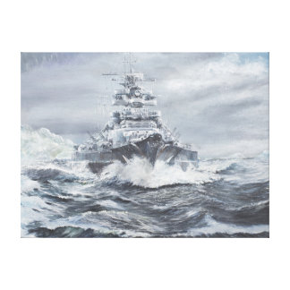Bismarck de la costa 1900hrs 23rdMay de Impresiones En Lienzo Estiradas