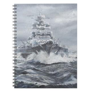 Bismarck de la costa 1900hrs 23rdMay de Libro De Apuntes
