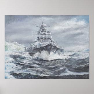 Bismarck de la costa 1900hrs 23rdMay de Póster