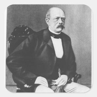 Bismarck en 1870 antes de la declaración de guerra pegatina cuadrada