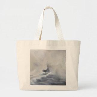 Bismarck evades her persuers May 25th 1941. 2005 Large Tote Bag