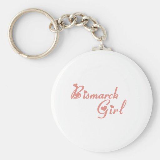 Bismarck Girl tee shirts Key Chain