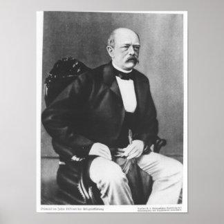 Bismarck in 1870 before the Declaration of War Poster