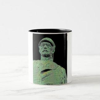 Bismarck Memorial, Berlin, Black Back(bs2) Two-Tone Coffee Mug