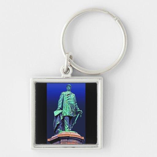 Bismarck Memorial, Berlin, Blue Back Keychain