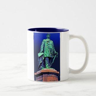 Bismarck Memorial, Berlin, Blue Back Two-Tone Coffee Mug