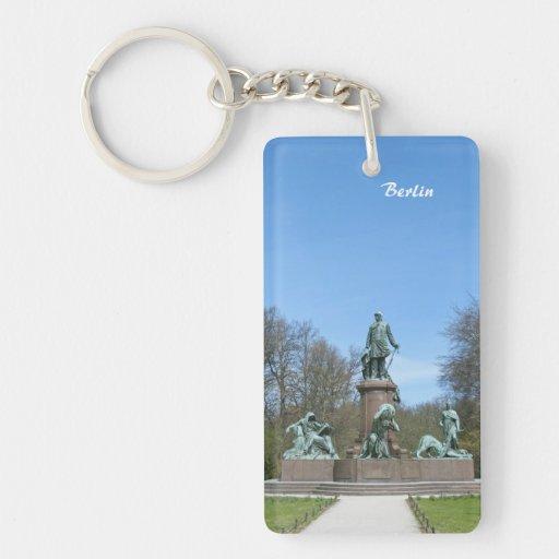 Bismarck Memorial in Berlin Rectangle Acrylic Keychain