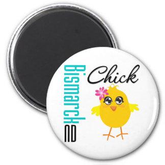 Bismarck ND Chick Fridge Magnet