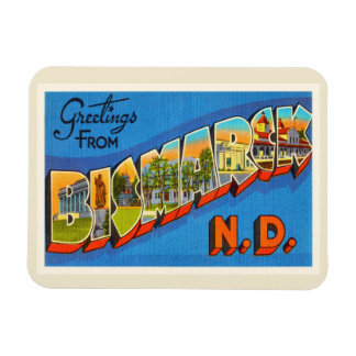 Bismarck North Dakota ND Vintage Travel Souvenir Magnet