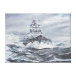 Bismarck off Greenland coast 1900hrs 23rdMay Canvas Print