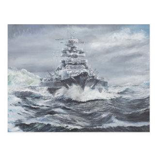 Bismarck off Greenland coast 1900hrs 23rdMay Postcard