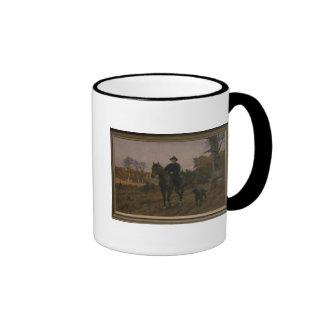Bismarck on Horseback with Dog Ringer Mug