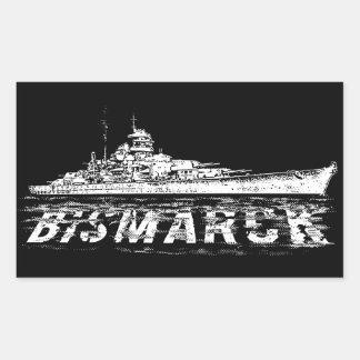 Bismarck Rectangle Stickers