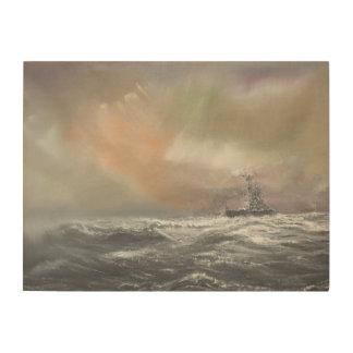 Bismarck señala Prinz Eugen 0959hrs el 24 de mayo Impresiones En Madera