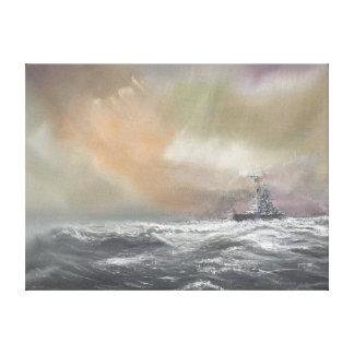 Bismarck señala Prinz Eugen 0959hrs el 24 de mayo Lienzo Envuelto Para Galerías