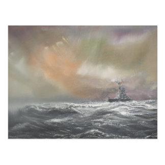 Bismarck señala Prinz Eugen 0959hrs el 24 de mayo Postal