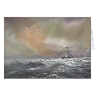 Bismarck señala Prinz Eugen 0959hrs el 24 de mayo Tarjeta De Felicitación