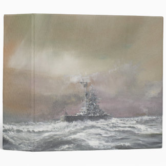 Bismarck signals Prinz Eugen 0959hrs 24th May 3 Ring Binders