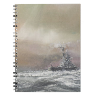 Bismarck signals Prinz Eugen 0959hrs 24th May Spiral Notebook