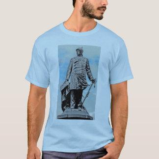 Bismarck Statue, Berlin,Full, Part B & W, Blue Sky T-Shirt