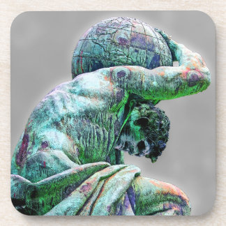 Bismarck Statue, Berlin, Greek God Atlas (5cpst) Beverage Coaster