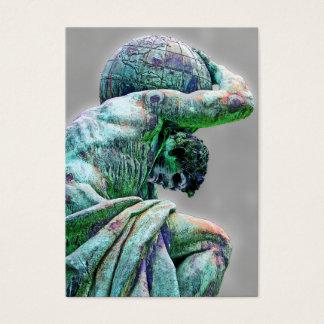 Bismarck Statue, Berlin, Greek God Atlas (5cpst) Business Card