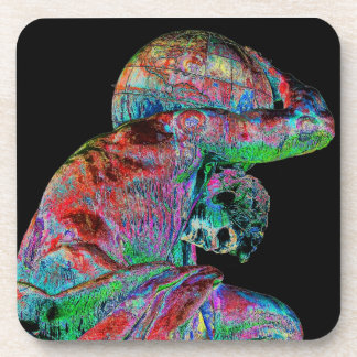 Bismarck Statue, Berlin, Greek God Atlas, Coloured Beverage Coaster