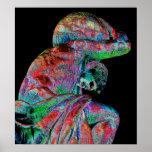 Bismarck Statue, Berlin, Greek God Atlas, Coloured Poster