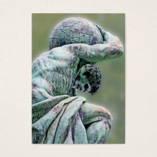 Bismarck Statue, Berlin, Greek God Atlas, Green Ba Business Card