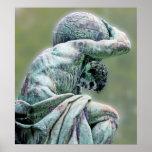 Bismarck Statue, Berlin, Greek God Atlas, Green Ba Poster