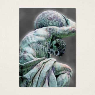 Bismarck Statue, Berlin, Greek God Atlas, Grey Bac Business Card