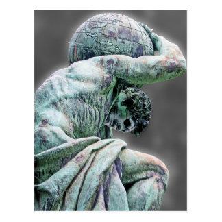 Bismarck Statue, Berlin, Greek God Atlas, Grey Bac Postcard