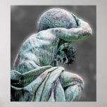 Bismarck Statue, Berlin, Greek God Atlas, Grey Bac Poster