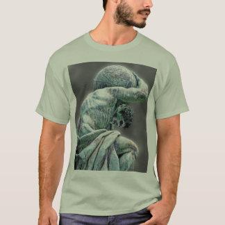 Bismarck Statue, Berlin, Greek God Atlas, Grey Bac T-Shirt