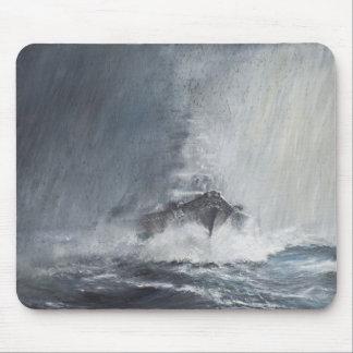 Bismarck through curtains of rain sleet mouse pad