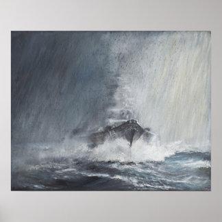 Bismarck through curtains of rain sleet poster