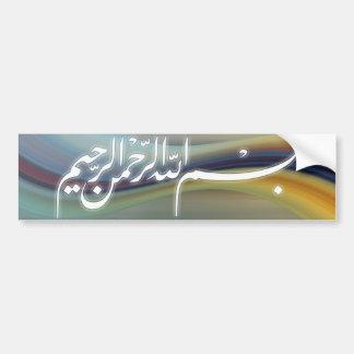 Bismillah calligraphy sticker car bumper sticker