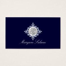 Bismillah Islam Islamic Damask Blue Business Card at Zazzle