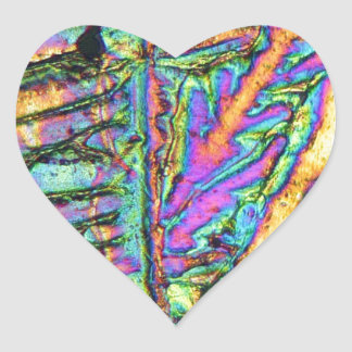 Bismuth chloride under the microscope heart sticker