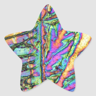 Bismuth chloride under the microscope star sticker