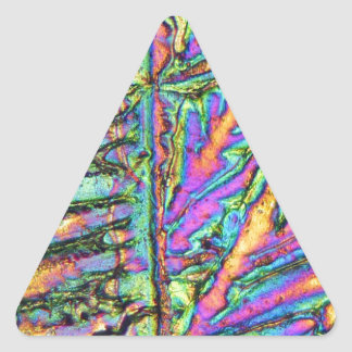 Bismuth chloride under the microscope triangle sticker
