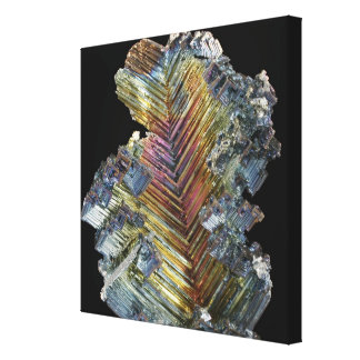 Bismuth crystal canvas print