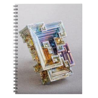Bismuth Crystal Spiral Notebook