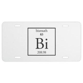 Bismuth License Plate