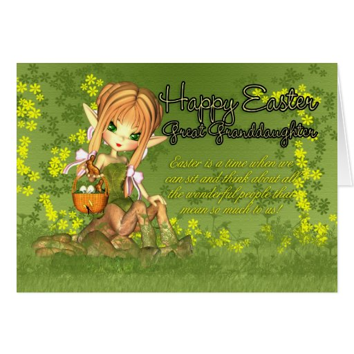 Bisnieta - tarjeta de pascua - Centaur lindo W