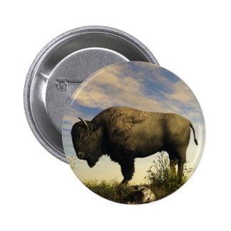 Bison 2 Inch Round Button