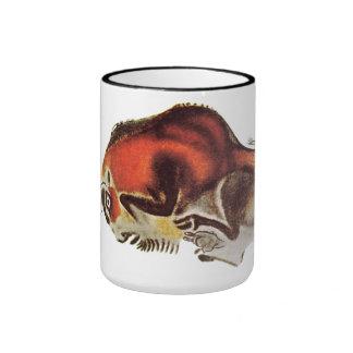 Bison Altamira Caves Ringer Coffee Mug