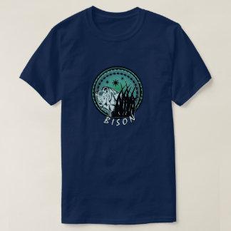 Bison - American Buffalo Aqua Blue T-Shirt